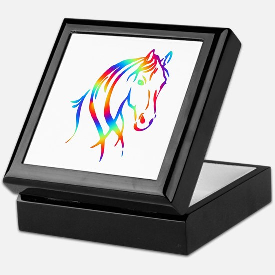 Colorful Horse Head Keepsake Box