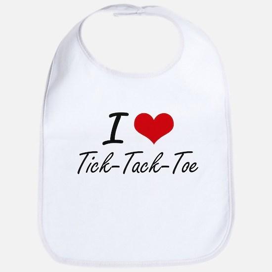 I love Tick-Tack-Toe Bib
