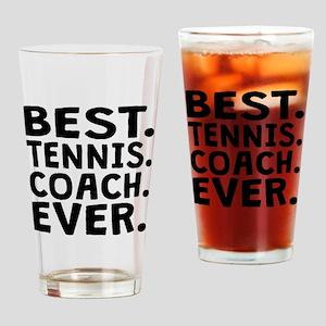Best Tennis Coach Ever Drinking Glass