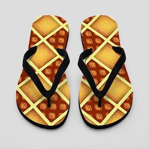 GOLD DAMASK Flip Flops