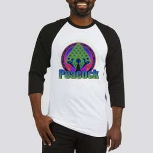 Peacock Design Baseball Jersey