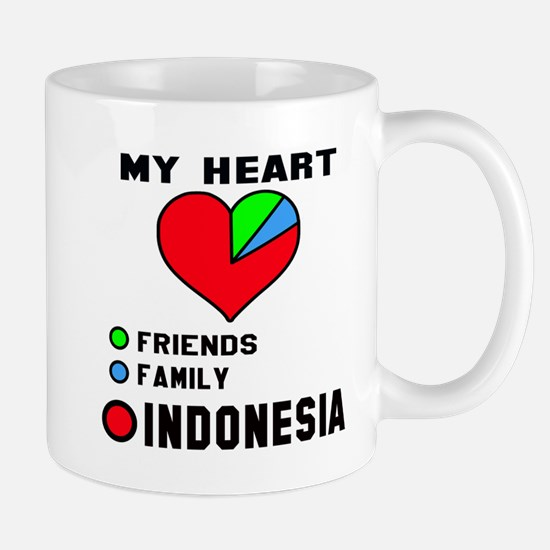 My Heart Friends, Family and Ind Mug
