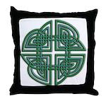 Celtic Four Leaf Clover Throw Pillow