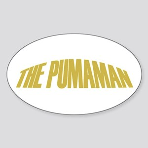 Pumaman Oval Sticker