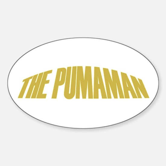 Pumaman Oval Decal