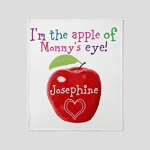 Personalised Apple Of My Eye Painting Throw Blanke