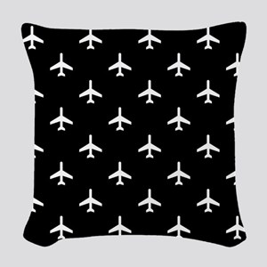 Airplanes Woven Throw Pillow
