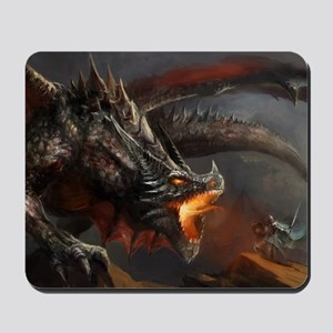 Dragon and Knight Mousepad