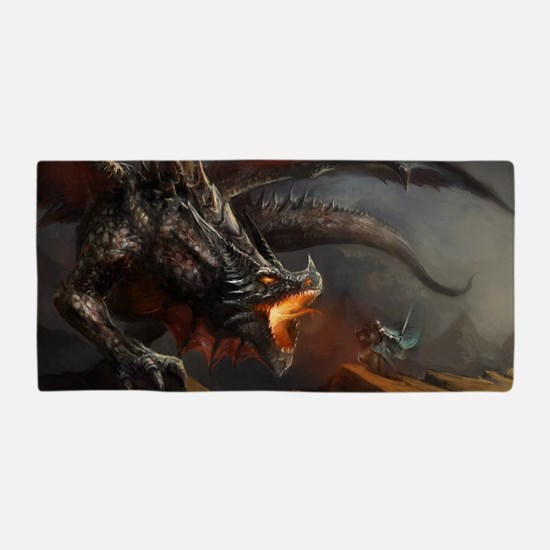 Dragon and Knight Beach Towel
