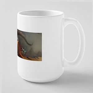 Dragon and Knight Large Mug