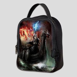 Dragon Viking Ship Neoprene Lunch Bag
