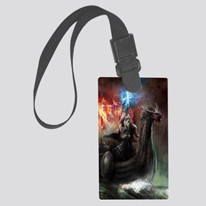 Dragon Viking Ship Large Luggage Tag