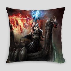 Dragon Viking Ship Everyday Pillow