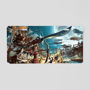 Steampunk Pirates Aluminum License Plate