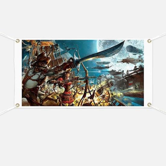 Steampunk Pirates Banner