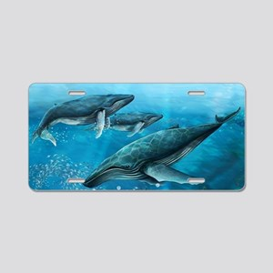 Coral Reef Whales Aluminum License Plate