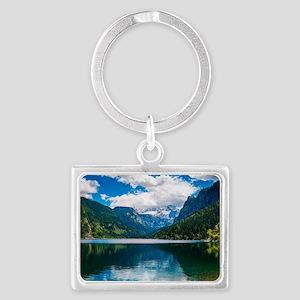 Mountain Valley Lake Landscape Keychain
