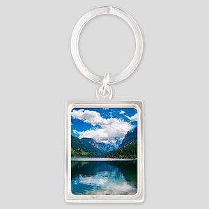 Mountain Valley Lake Portrait Keychain