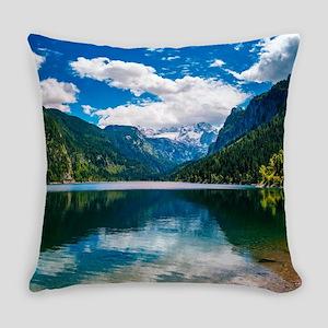 Mountain Valley Lake Everyday Pillow