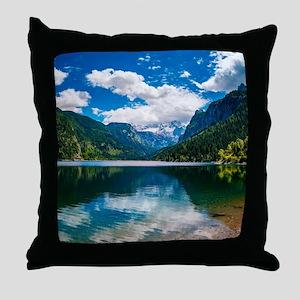 Mountain Valley Lake Throw Pillow