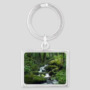 Summer Forest Brook Landscape Keychain