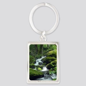 Summer Forest Brook Portrait Keychain