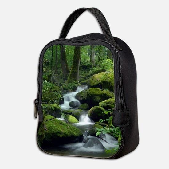 Summer Forest Brook Neoprene Lunch Bag