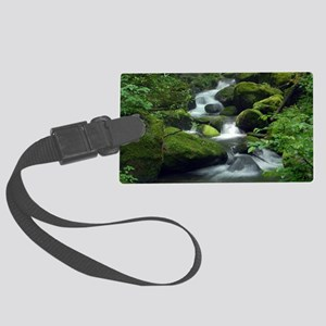 Summer Forest Brook Large Luggage Tag