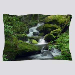 Summer Forest Brook Pillow Case