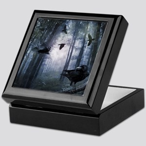 Misty Forest Crows Keepsake Box