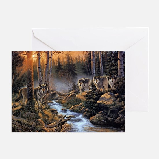 Forest Wolves Greeting Card