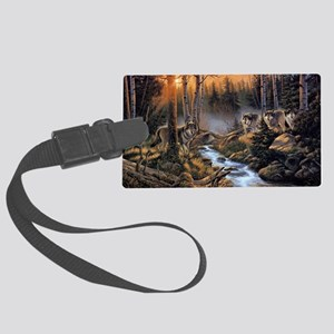 Forest Wolves Large Luggage Tag