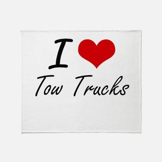 I love Tow Trucks Throw Blanket