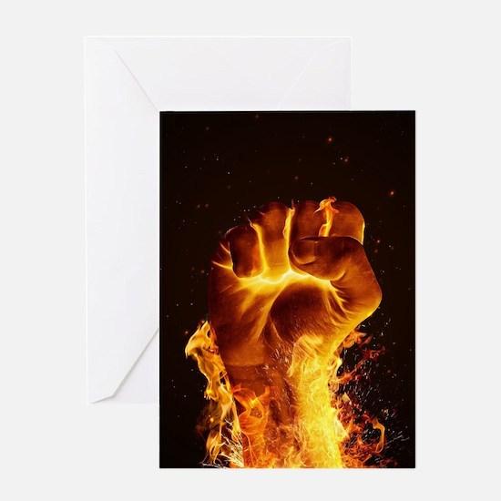 Fire Fist Greeting Card