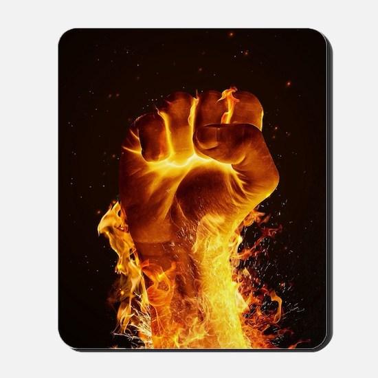 Fire Fist Mousepad