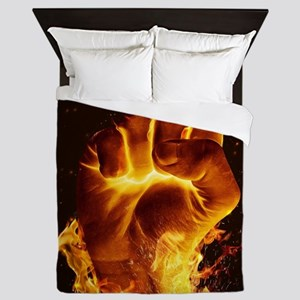 Fire Fist Queen Duvet