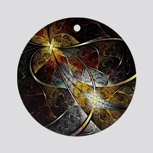 Colorful Artistic Fractal Round Ornament
