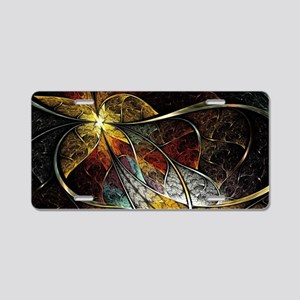 Colorful Artistic Fractal Aluminum License Plate