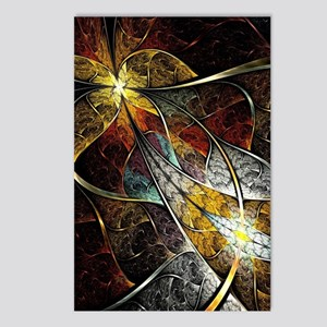 Colorful Artistic Fractal Postcards (Package of 8)