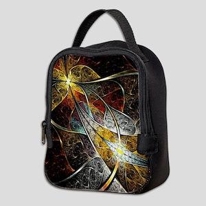 Colorful Artistic Fractal Neoprene Lunch Bag