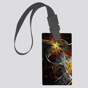 Colorful Artistic Fractal Large Luggage Tag