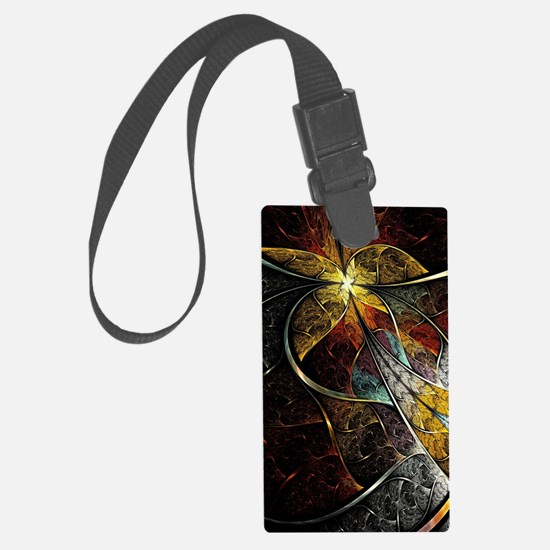 Colorful Artistic Fractal Luggage Tag