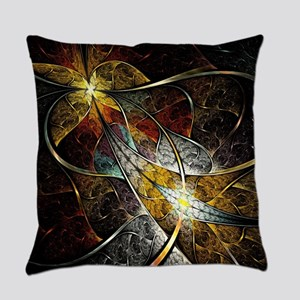 Colorful Artistic Fractal Everyday Pillow