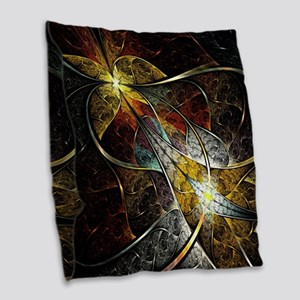 Colorful Artistic Fractal Burlap Throw Pillow