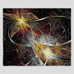 Colorful Artistic Fractal King Duvet