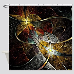 Colorful Artistic Fractal Shower Curtain