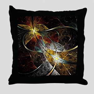 Colorful Artistic Fractal Throw Pillow