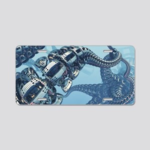 Mechanical Kraken Aluminum License Plate