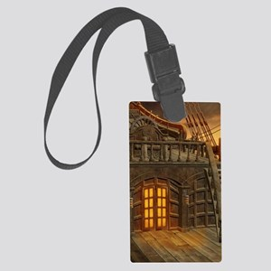 Onboard Pirate Ship Large Luggage Tag