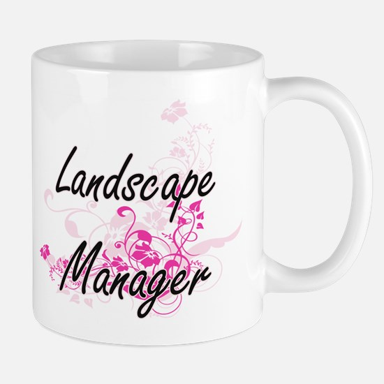 Landscape Manager Artistic Job Design with Fl Mugs